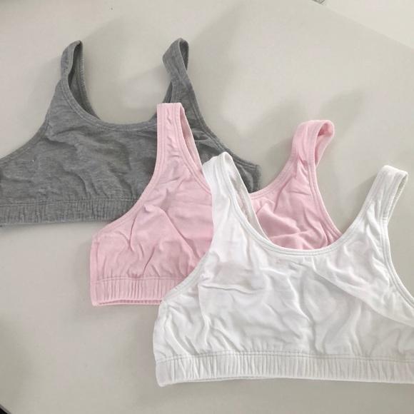 f8737fc9f3c67 3-pack fruit of the loom girls built up sports bra